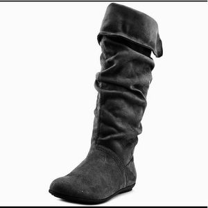 Nine West Black Seamless Slouchy high Boots